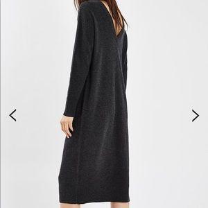 Topshop 100% cashmere V-back dress